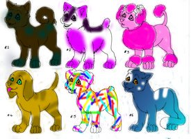 Dog adopts *1/6 OPEN* by Crystalstar1551