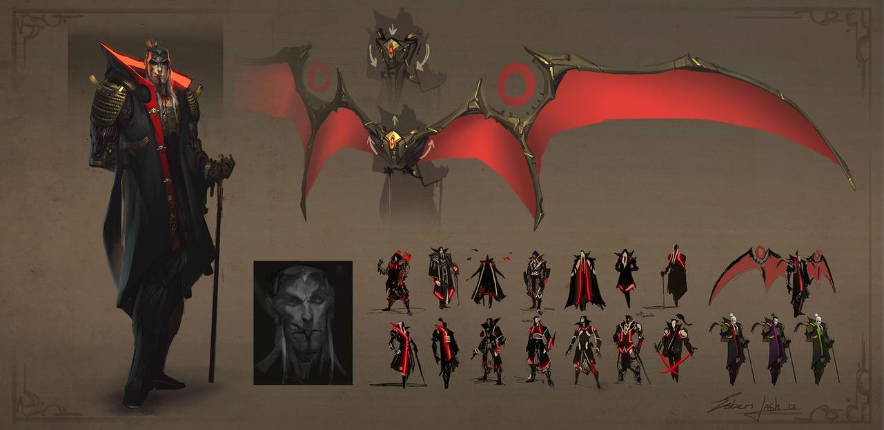 Deviantart Design A Character : Dracula character design revision by esbenlash on deviantart