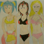 The 3 Main Girls in Swimsuits
