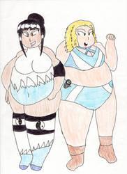 Asami and Malvina by KaigunMontoya