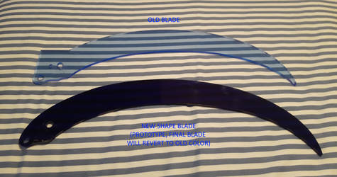 Folding Scythe - Old Blade vs New Blade Prototype