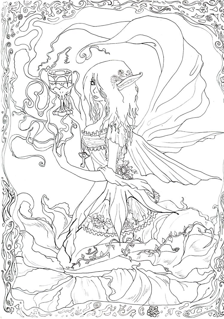 Walth Fairy lineart by arkusz on DeviantArt