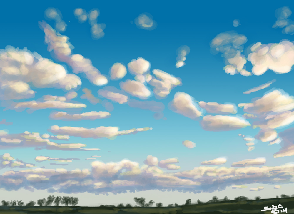 Digital Sketch of South Dakota Sky2 by ink5000