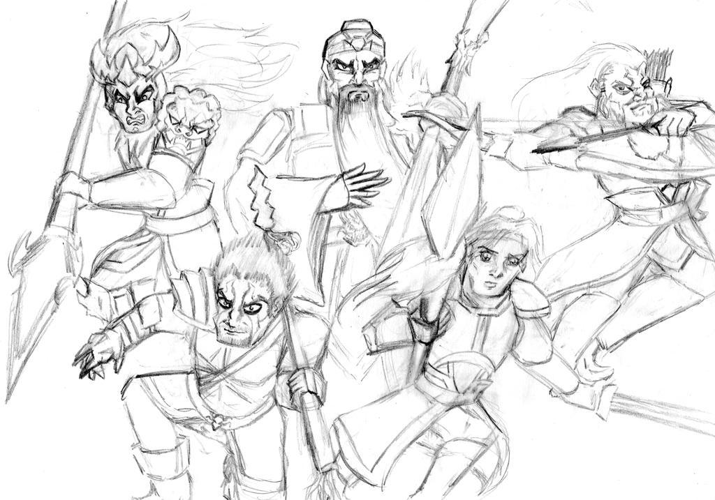 Five Dragon Generals of Shu by HisPurpleness