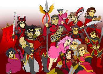 Xiahou Family (Colour) by HisPurpleness