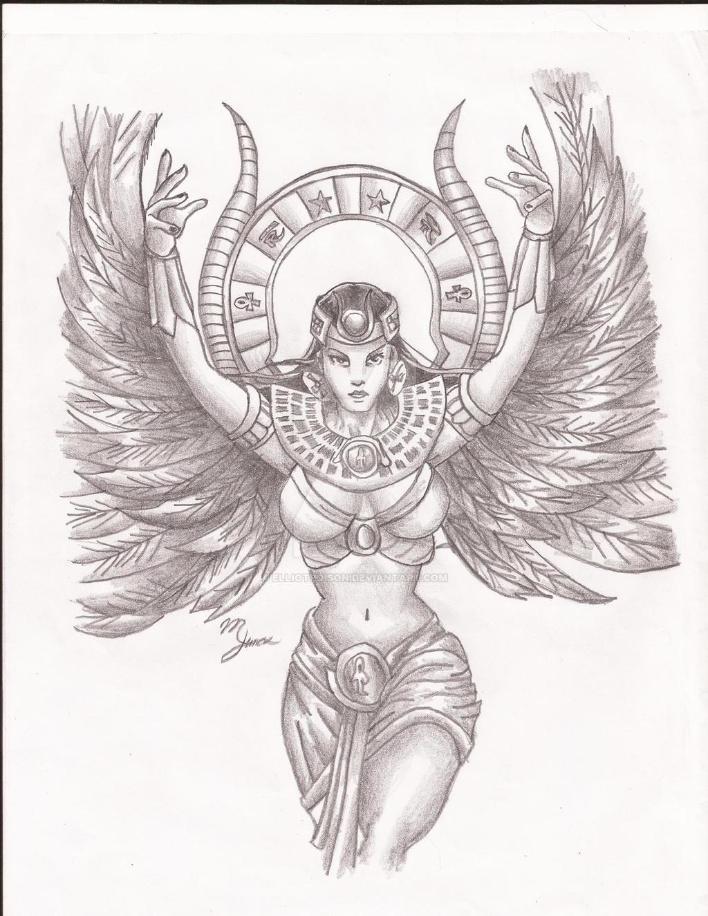 goddess isis by elliotpoison on deviantart. Black Bedroom Furniture Sets. Home Design Ideas