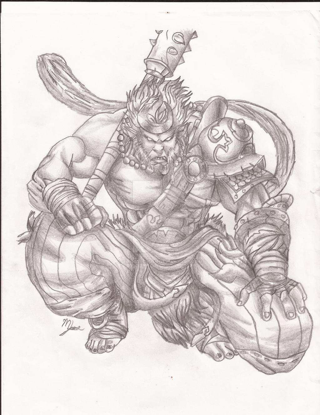 This is a graphic of Versatile Sun Wukong Drawing