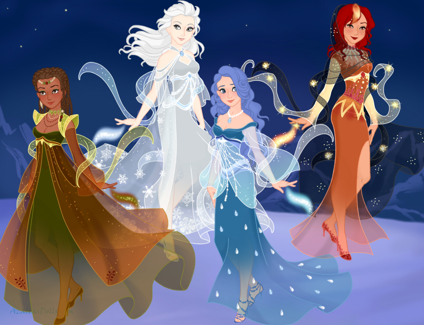 Four Elements Art : The four elements snow queen scene maker by arimus79 on deviantart