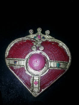 3d Printed  Cosmic Heart Compact