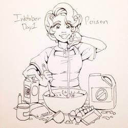Inktober Day 1: Poisonous by HanaPiana