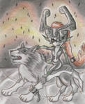 Wolf-Link and Midna