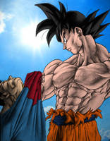 Goku Vs SuperMan by Anasukiable