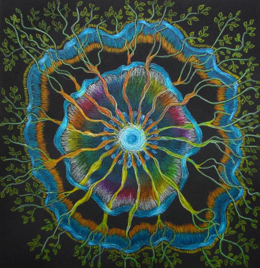 my first left hand Mandala by hadas64
