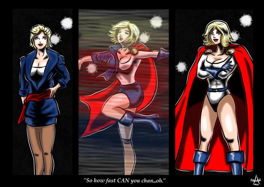 Powergirl's quick change. by adamantis on deviantART