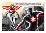 Captain Atom Vs Powergirl ( New 52 )