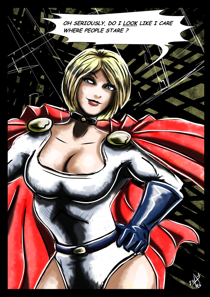 Powergirl : Seriously by adamantis