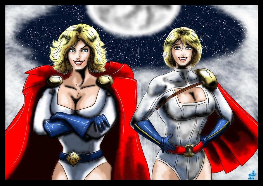 Powergirls ( 1989 and 2009 ) by adamantis