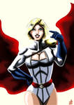 Powergirl in the light