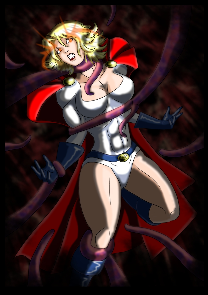 Powergirl Vs the King of Tears ( Manga Monster 3 ) by adamantis