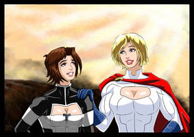 Atlee/Terra and Powergirl - Don't i know you ? by adamantis