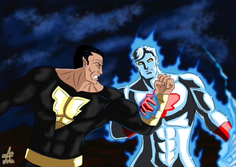 Captain Atom Vs Black Adam - War by adamantis on DeviantArt