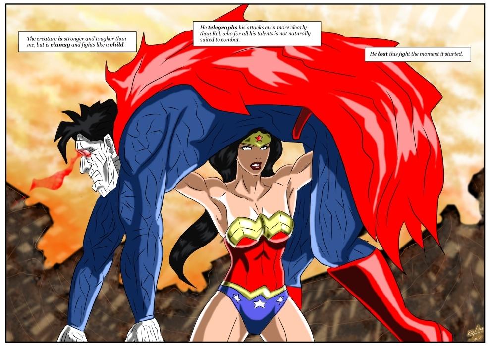 Wonder Woman Vs Bizarro by adamantis