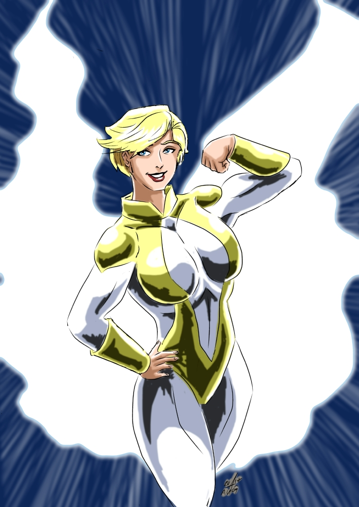 Power Girl - Angelic in Gold by adamantis