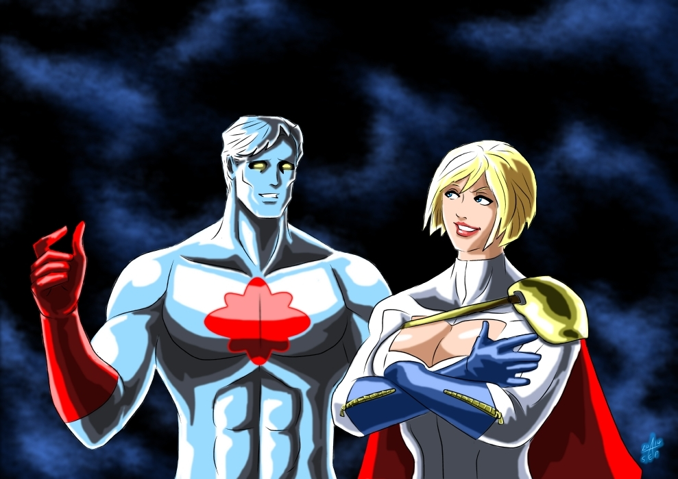 Power Girl and Captain Atom - Modern Era by adamantis