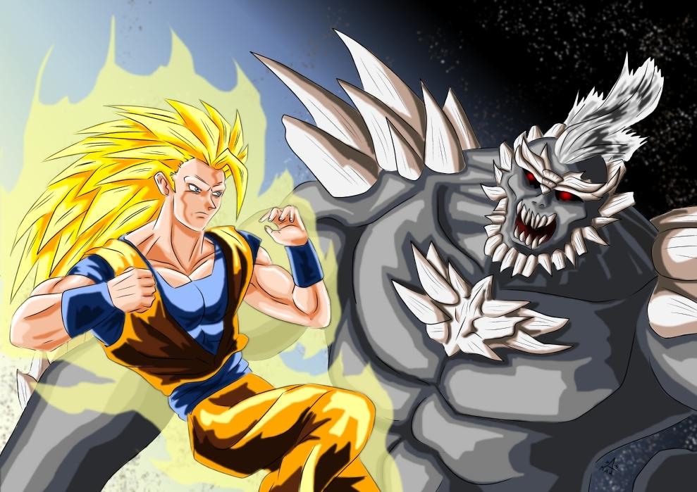Goku Vs Doomsday by adamantis