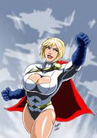Power Girl - Flight II by adamantis