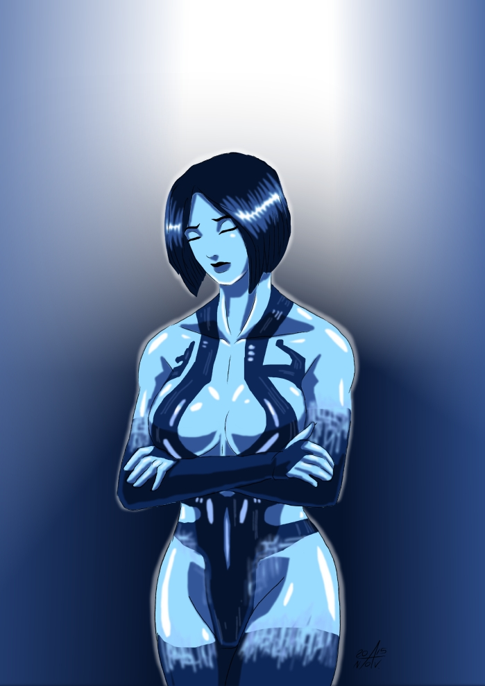 Cortana ( Halo 4 ) by adamantis