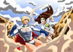Power Girl Vs Mary Marvel - Clash
