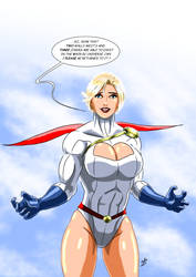 Power Girl - Awaiting Rebirth by adamantis