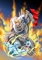 Captain Atom and Power Girl - Doomsday by adamantis