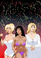 Bakshi Ladies - Holli, Teegra, Galadriel by adamantis
