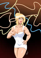 Power Girl - Hello Holli Would 2 by adamantis