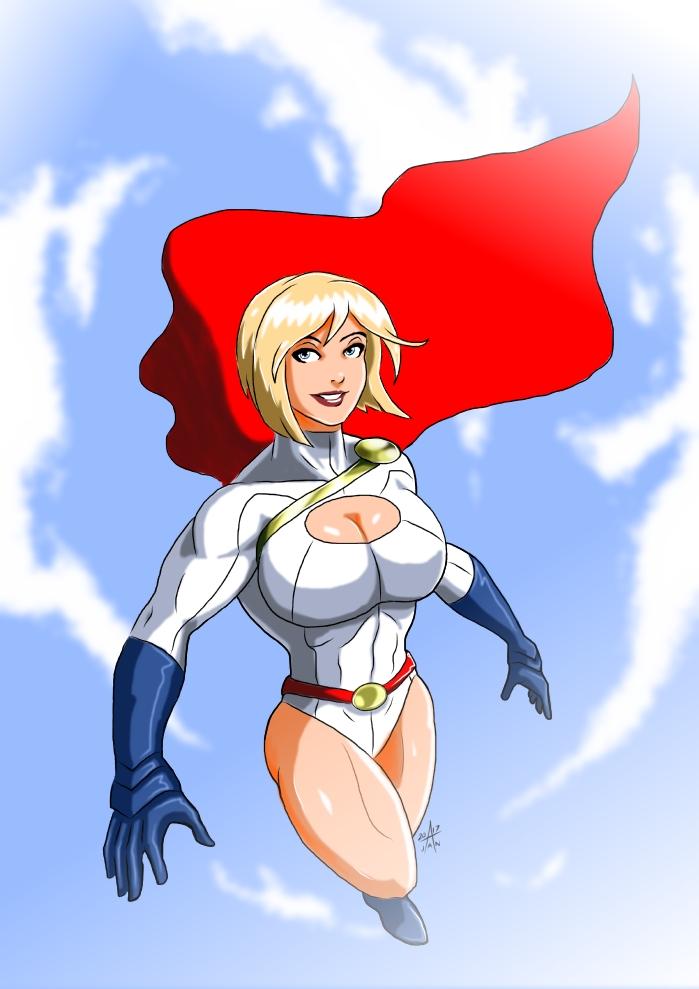 Power Girl - Flying high by adamantis