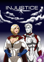 Power Girl and Captain Atom - Injustice by adamantis