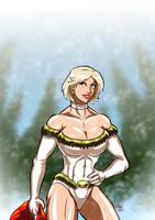 Power Girl - Merry Christmas by adamantis