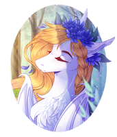 Flower Crown [YCH] by hazepages