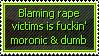 Rape Victim Blaming