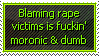 Rape Victim Blaming by Geth-VI