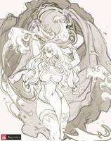 Aquarika sketch concept by phungdinhdung
