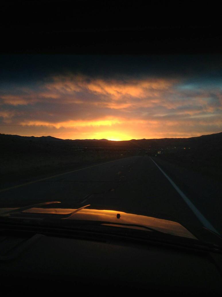 sun rise in Nevada  by Rattios