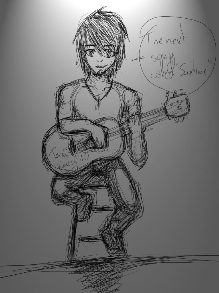 Guitar Player Sketch by Terrorkekzy on DeviantArt
