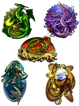 Dragon graphics set by donnaquinn