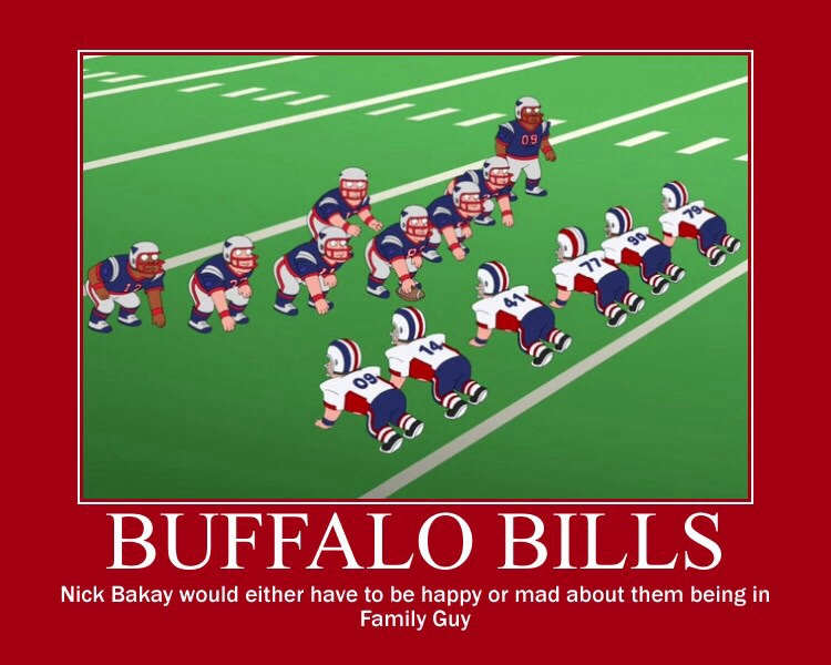 buffalo bills in family guy motivational poster by
