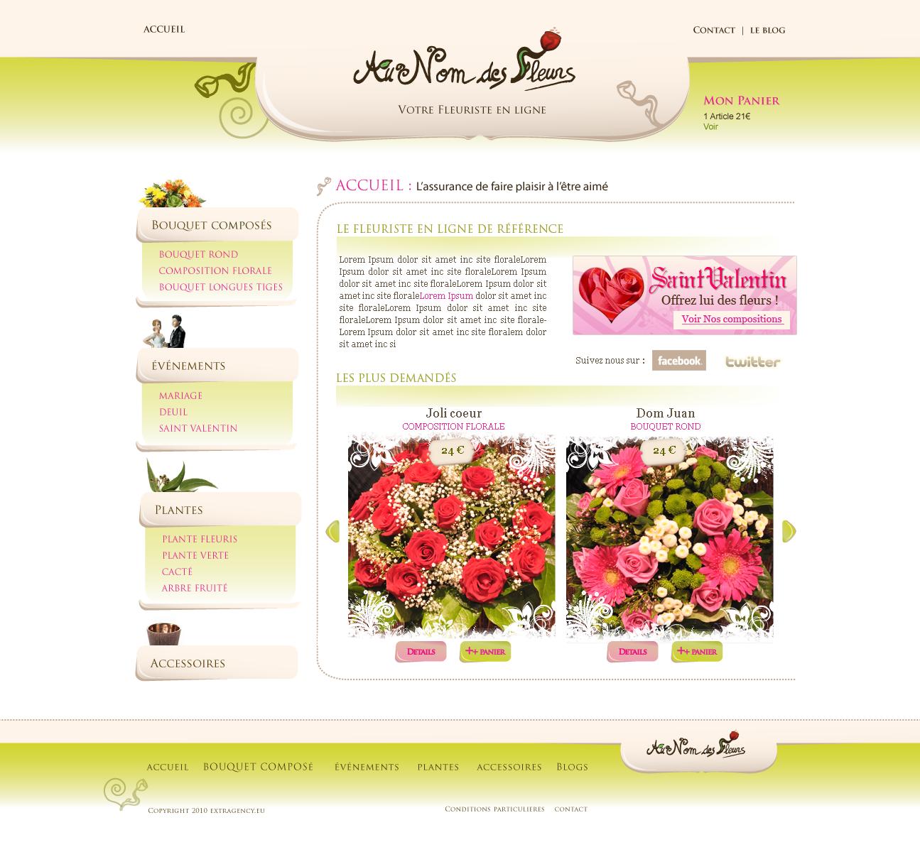 Fleuriste en ligne flower shop by shark graphic on deviantart for Fleuriste ligne