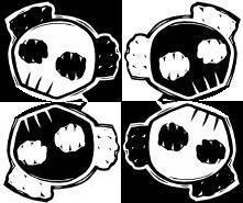 Skull Panda - Warhol Style by xX-Abaddon-Xx