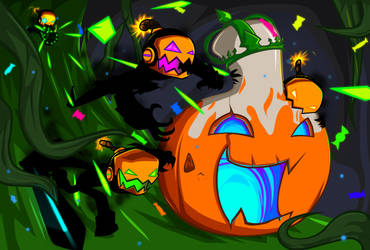 Punkin chase by GreedForGreen